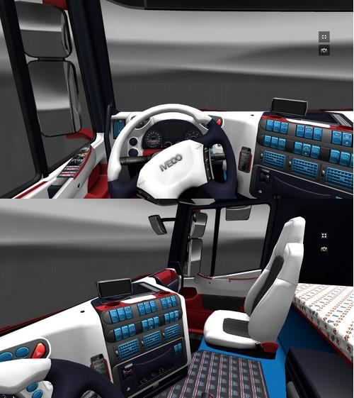"Euro Truck Simulator 2 ""Два салона для MAN и Iveco"""