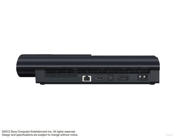 Задний вид PS 3 Super Slim